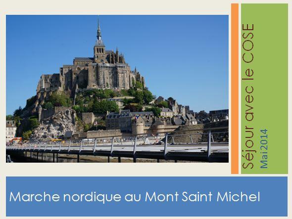 Marche Nordique au Mont Saint Michel